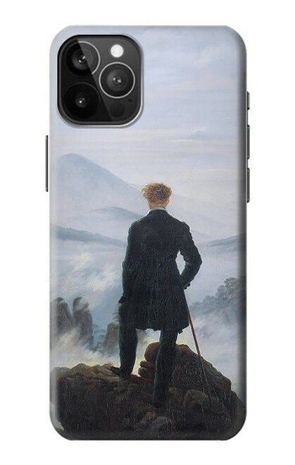 S3789 霧の海の上の放浪者 Wanderer above the Sea of Fog iPhone 12 Pro Max バックケース、フリップケース・カバー