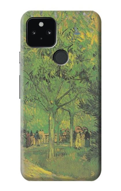 S3748 フィンセント・ファン・ゴッホ パブリックガーデンの車線 Van Gogh A Lane in a Public Garden Google Pixel 5 バックケース、フリップケース・カバー