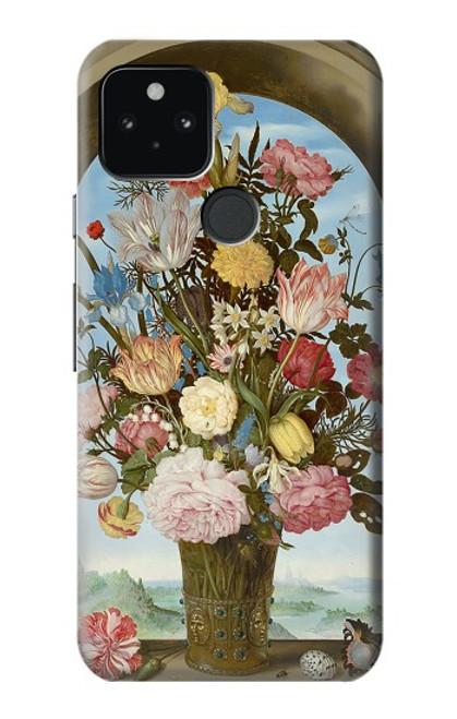 S3749 花瓶 Vase of Flowers Google Pixel 5 バックケース、フリップケース・カバー