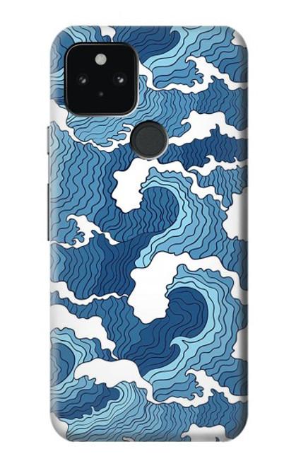 S3751 波のパターン Wave Pattern Google Pixel 5 バックケース、フリップケース・カバー