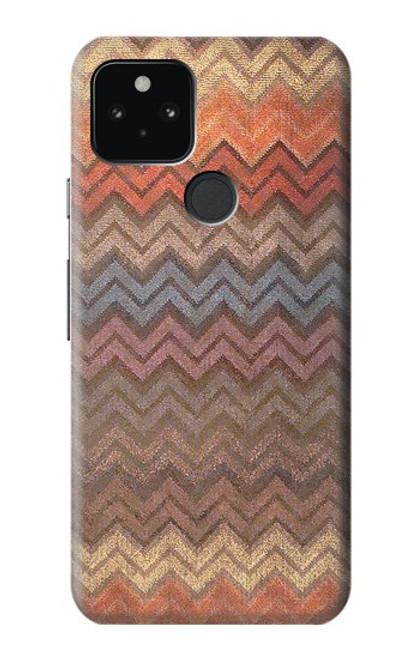 S3752 ジグザグ生地パターングラフィックプリント Zigzag Fabric Pattern Graphic Printed Google Pixel 5 バックケース、フリップケース・カバー