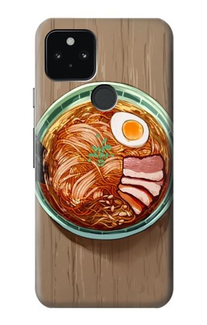 S3756 ラーメン Ramen Noodles Google Pixel 5 バックケース、フリップケース・カバー
