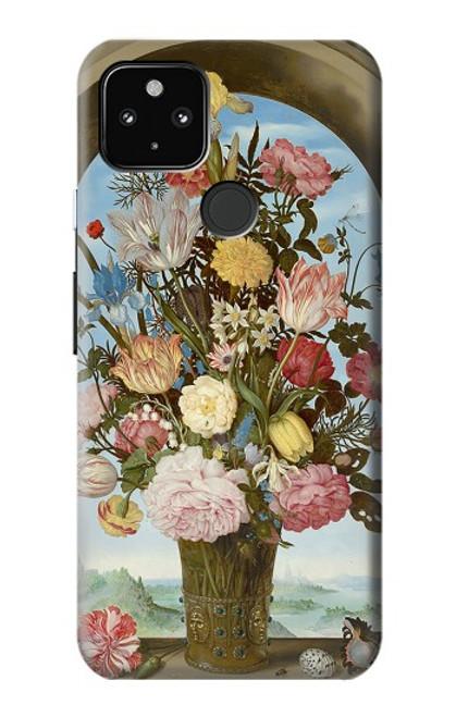 S3749 花瓶 Vase of Flowers Google Pixel 4a 5G バックケース、フリップケース・カバー