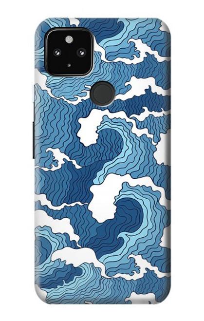 S3751 波のパターン Wave Pattern Google Pixel 4a 5G バックケース、フリップケース・カバー