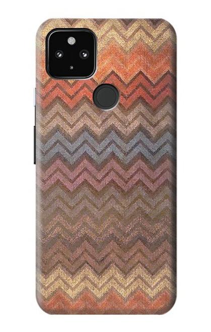 S3752 ジグザグ生地パターングラフィックプリント Zigzag Fabric Pattern Graphic Printed Google Pixel 4a 5G バックケース、フリップケース・カバー