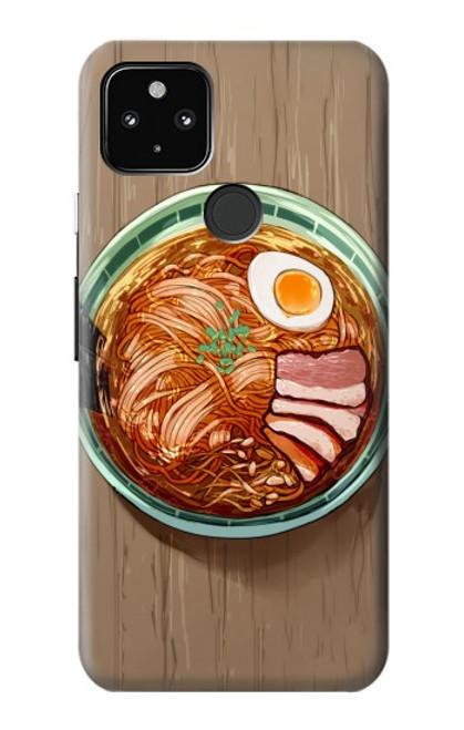 S3756 ラーメン Ramen Noodles Google Pixel 4a 5G バックケース、フリップケース・カバー