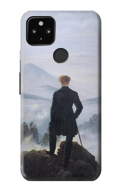 S3789 霧の海の上の放浪者 Wanderer above the Sea of Fog Google Pixel 4a 5G バックケース、フリップケース・カバー