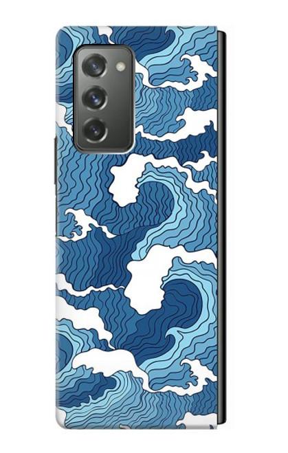 S3751 波のパターン Wave Pattern Samsung Galaxy Z Fold2 5G バックケース、フリップケース・カバー