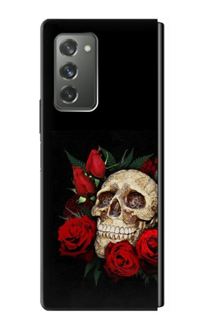 S3753 ダークゴシックゴススカルローズ Dark Gothic Goth Skull Roses Samsung Galaxy Z Fold2 5G バックケース、フリップケース・カバー
