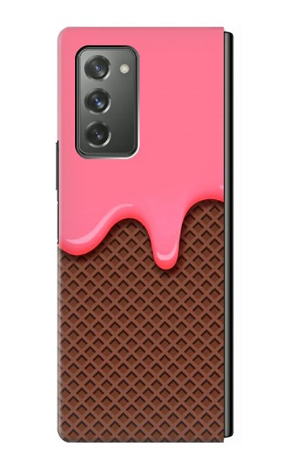 S3754 ストロベリーアイスクリームコーン Strawberry Ice Cream Cone Samsung Galaxy Z Fold2 5G バックケース、フリップケース・カバー