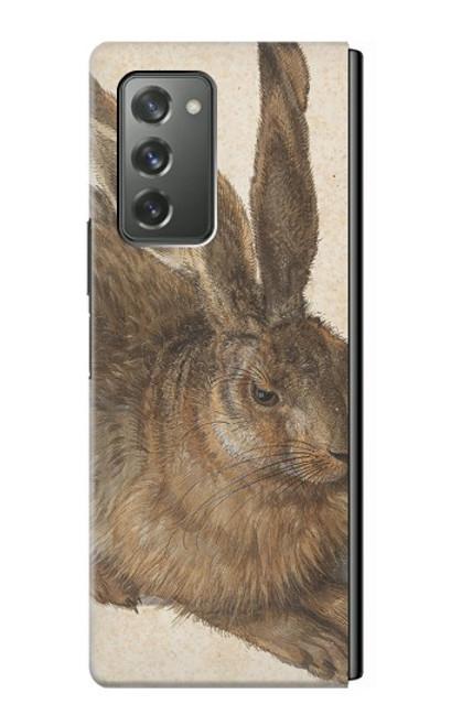 S3781 アルブレヒト・デューラー・ヤング・ヘア Albrecht Durer Young Hare Samsung Galaxy Z Fold2 5G バックケース、フリップケース・カバー