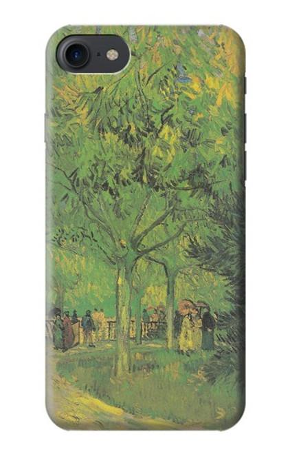 S3748 フィンセント・ファン・ゴッホ パブリックガーデンの車線 Van Gogh A Lane in a Public Garden iPhone 7, iPhone 8, iPhone SE (2020) バックケース、フリップケース・カバー