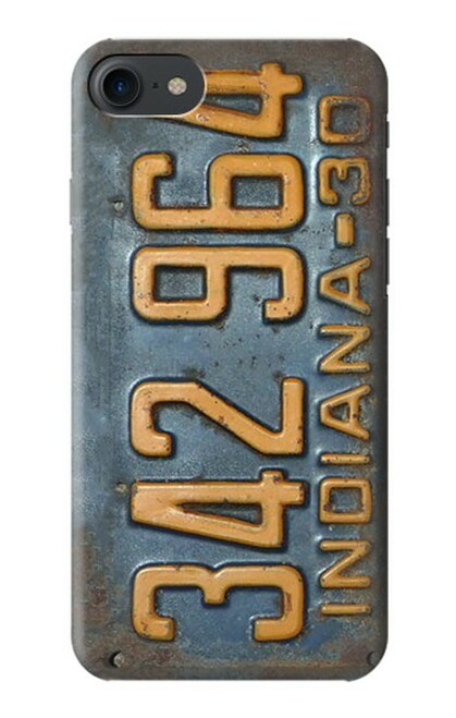 S3750 ヴィンテージ車のナンバープレート Vintage Vehicle Registration Plate iPhone 7, iPhone 8, iPhone SE (2020) バックケース、フリップケース・カバー