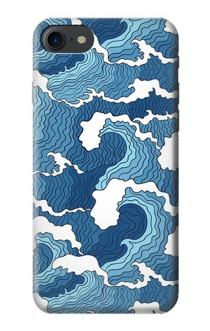 S3751 波のパターン Wave Pattern iPhone 7, iPhone 8, iPhone SE (2020) バックケース、フリップケース・カバー