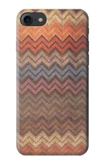 S3752 ジグザグ生地パターングラフィックプリント Zigzag Fabric Pattern Graphic Printed iPhone 7, iPhone 8, iPhone SE (2020) バックケース、フリップケース・カバー