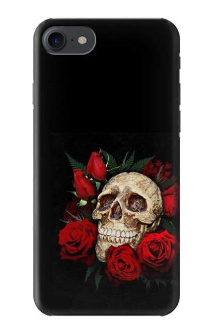 S3753 ダークゴシックゴススカルローズ Dark Gothic Goth Skull Roses iPhone 7, iPhone 8, iPhone SE (2020) バックケース、フリップケース・カバー