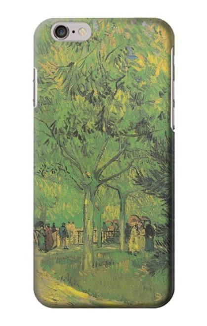 S3748 フィンセント・ファン・ゴッホ パブリックガーデンの車線 Van Gogh A Lane in a Public Garden iPhone 6 6S バックケース、フリップケース・カバー