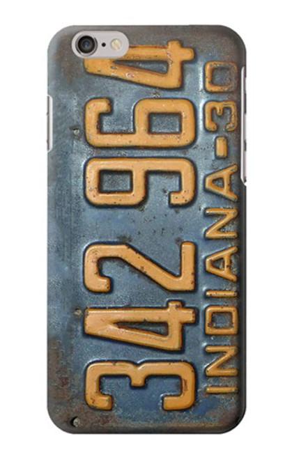 S3750 ヴィンテージ車のナンバープレート Vintage Vehicle Registration Plate iPhone 6 6S バックケース、フリップケース・カバー