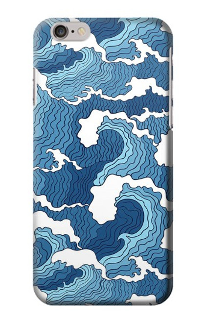 S3751 波のパターン Wave Pattern iPhone 6 6S バックケース、フリップケース・カバー