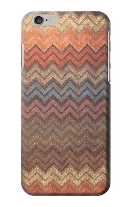 S3752 ジグザグ生地パターングラフィックプリント Zigzag Fabric Pattern Graphic Printed iPhone 6 6S バックケース、フリップケース・カバー