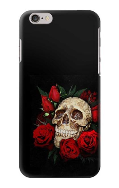 S3753 ダークゴシックゴススカルローズ Dark Gothic Goth Skull Roses iPhone 6 6S バックケース、フリップケース・カバー
