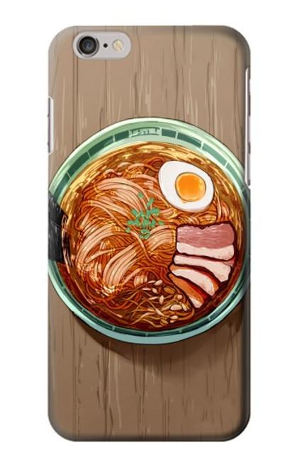 S3756 ラーメン Ramen Noodles iPhone 6 6S バックケース、フリップケース・カバー