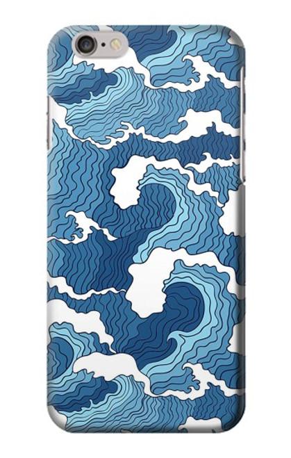 S3751 波のパターン Wave Pattern iPhone 6 Plus, iPhone 6s Plus バックケース、フリップケース・カバー