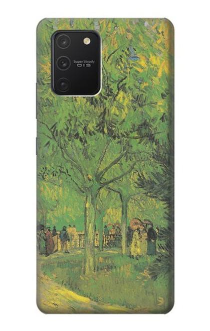 S3748 フィンセント・ファン・ゴッホ パブリックガーデンの車線 Van Gogh A Lane in a Public Garden Samsung Galaxy S10 Lite バックケース、フリップケース・カバー