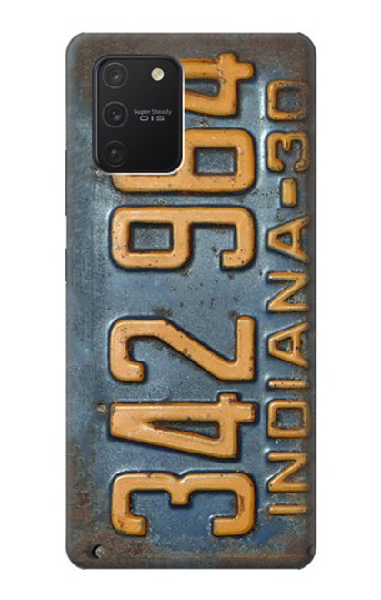 S3750 ヴィンテージ車のナンバープレート Vintage Vehicle Registration Plate Samsung Galaxy S10 Lite バックケース、フリップケース・カバー