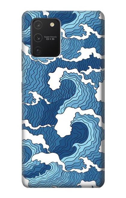S3751 波のパターン Wave Pattern Samsung Galaxy S10 Lite バックケース、フリップケース・カバー