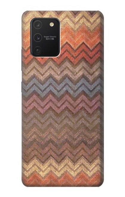 S3752 ジグザグ生地パターングラフィックプリント Zigzag Fabric Pattern Graphic Printed Samsung Galaxy S10 Lite バックケース、フリップケース・カバー