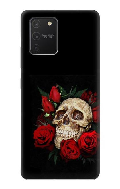 S3753 ダークゴシックゴススカルローズ Dark Gothic Goth Skull Roses Samsung Galaxy S10 Lite バックケース、フリップケース・カバー
