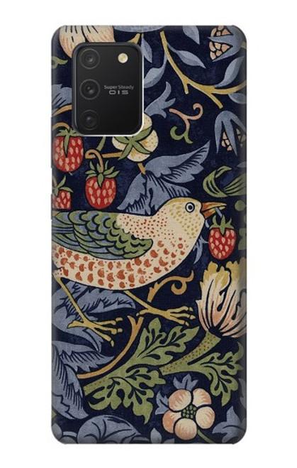 S3791 ウィリアムモリスストロベリーシーフ生地 William Morris Strawberry Thief Fabric Samsung Galaxy S10 Lite バックケース、フリップケース・カバー