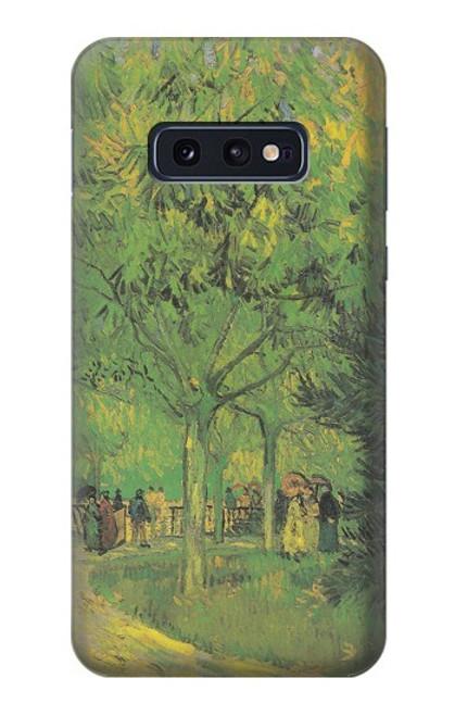 S3748 フィンセント・ファン・ゴッホ パブリックガーデンの車線 Van Gogh A Lane in a Public Garden Samsung Galaxy S10e バックケース、フリップケース・カバー