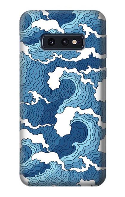 S3751 波のパターン Wave Pattern Samsung Galaxy S10e バックケース、フリップケース・カバー