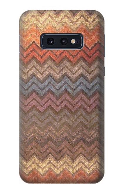 S3752 ジグザグ生地パターングラフィックプリント Zigzag Fabric Pattern Graphic Printed Samsung Galaxy S10e バックケース、フリップケース・カバー