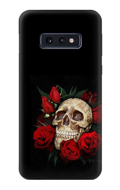 S3753 ダークゴシックゴススカルローズ Dark Gothic Goth Skull Roses Samsung Galaxy S10e バックケース、フリップケース・カバー