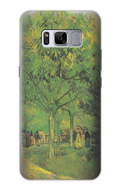 S3748 フィンセント・ファン・ゴッホ パブリックガーデンの車線 Van Gogh A Lane in a Public Garden Samsung Galaxy S8 Plus バックケース、フリップケース・カバー