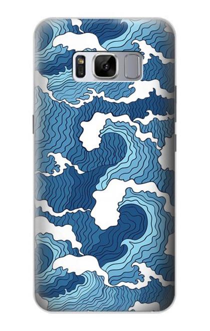 S3751 波のパターン Wave Pattern Samsung Galaxy S8 Plus バックケース、フリップケース・カバー