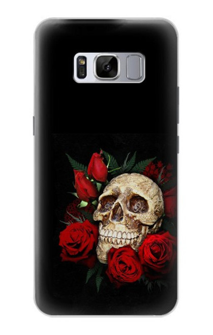 S3753 ダークゴシックゴススカルローズ Dark Gothic Goth Skull Roses Samsung Galaxy S8 Plus バックケース、フリップケース・カバー