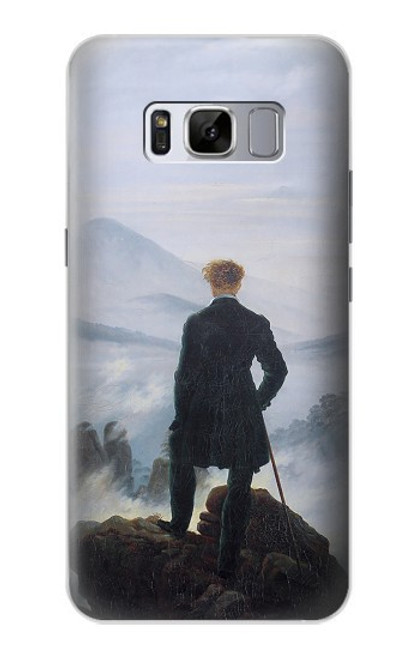 S3789 霧の海の上の放浪者 Wanderer above the Sea of Fog Samsung Galaxy S8 Plus バックケース、フリップケース・カバー