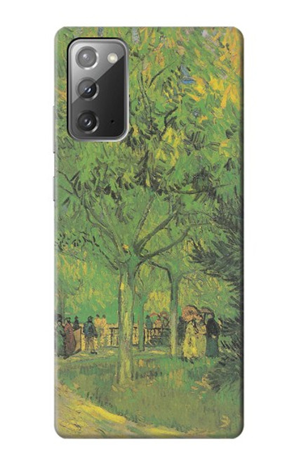S3748 フィンセント・ファン・ゴッホ パブリックガーデンの車線 Van Gogh A Lane in a Public Garden Samsung Galaxy Note 20 バックケース、フリップケース・カバー
