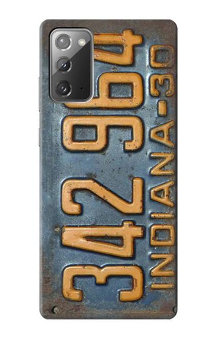 S3750 ヴィンテージ車のナンバープレート Vintage Vehicle Registration Plate Samsung Galaxy Note 20 バックケース、フリップケース・カバー