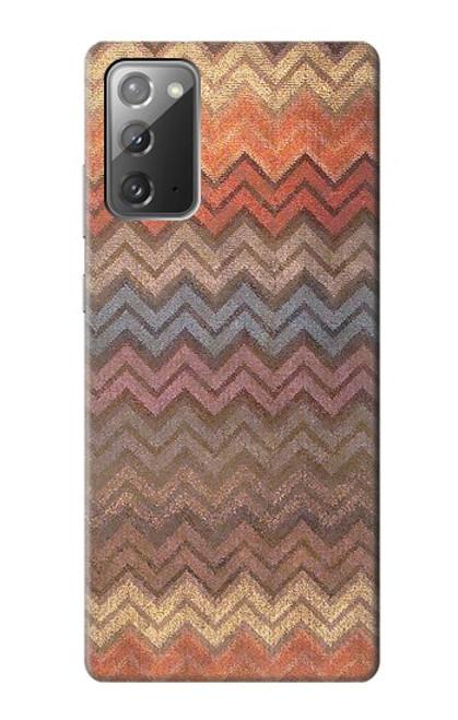 S3752 ジグザグ生地パターングラフィックプリント Zigzag Fabric Pattern Graphic Printed Samsung Galaxy Note 20 バックケース、フリップケース・カバー