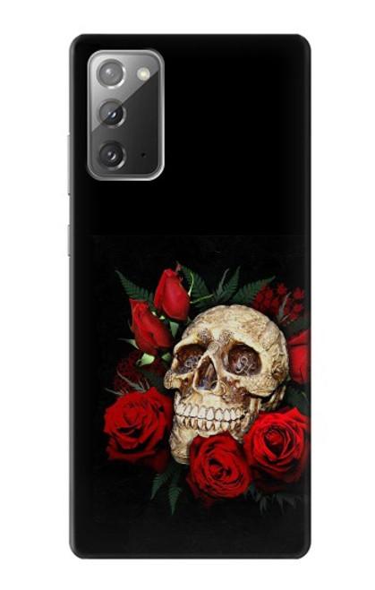 S3753 ダークゴシックゴススカルローズ Dark Gothic Goth Skull Roses Samsung Galaxy Note 20 バックケース、フリップケース・カバー