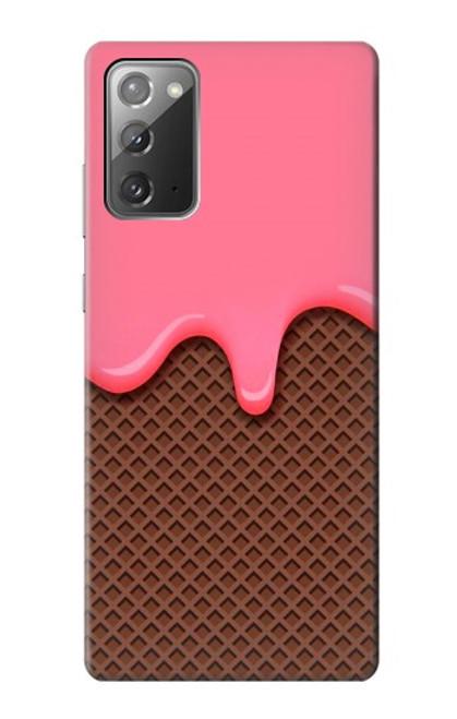 S3754 ストロベリーアイスクリームコーン Strawberry Ice Cream Cone Samsung Galaxy Note 20 バックケース、フリップケース・カバー
