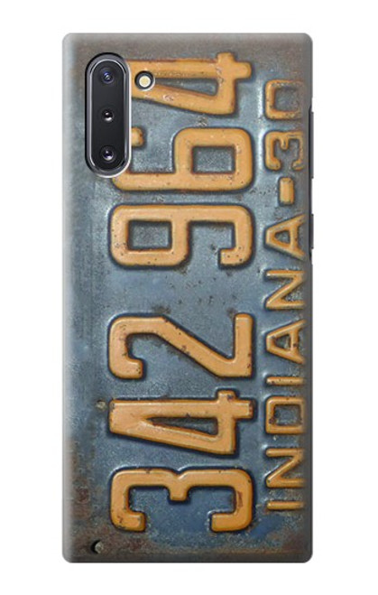S3750 ヴィンテージ車のナンバープレート Vintage Vehicle Registration Plate Samsung Galaxy Note 10 バックケース、フリップケース・カバー
