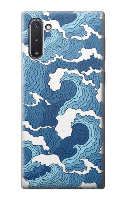 S3751 波のパターン Wave Pattern Samsung Galaxy Note 10 バックケース、フリップケース・カバー
