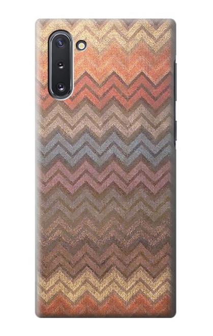 S3752 ジグザグ生地パターングラフィックプリント Zigzag Fabric Pattern Graphic Printed Samsung Galaxy Note 10 バックケース、フリップケース・カバー