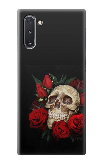 S3753 ダークゴシックゴススカルローズ Dark Gothic Goth Skull Roses Samsung Galaxy Note 10 バックケース、フリップケース・カバー
